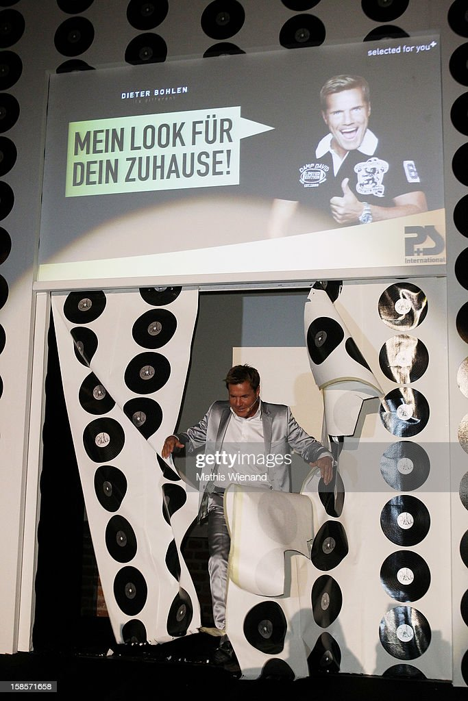 <a gi-track='captionPersonalityLinkClicked' href=/galleries/search?phrase=Dieter+Bohlen&family=editorial&specificpeople=801168 ng-click='$event.stopPropagation()'>Dieter Bohlen</a> attends the <a gi-track='captionPersonalityLinkClicked' href=/galleries/search?phrase=Dieter+Bohlen&family=editorial&specificpeople=801168 ng-click='$event.stopPropagation()'>Dieter Bohlen</a> Wallpaper Collection presentation of P&S International at Balloni Halls on December 19, 2012 in Cologne, Germany.
