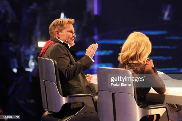 Dieter Bohlen during the fourth event show and semi finals of the tv competition 'Deutschland sucht den Superstar' at Coloneum on April 29 2017 in...