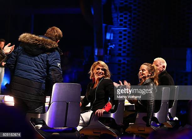 Dieter Bohlen Michelle Vanessa Mai HP Baxxter during the third event show of the tv competition 'Deutschland sucht den Superstar' at Landschaftspark...