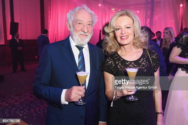 Dieter Hallervorden and Claudia Neidig attend the Medienboard BerlinBrandenburg Reception during the 67th Berlinale International Film Festival...