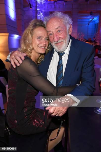 Dieter Hallervorden and his girlfriend Christiane Zander attend the Blue Hour Reception hosted by ARD during the 67th Berlinale International Film...