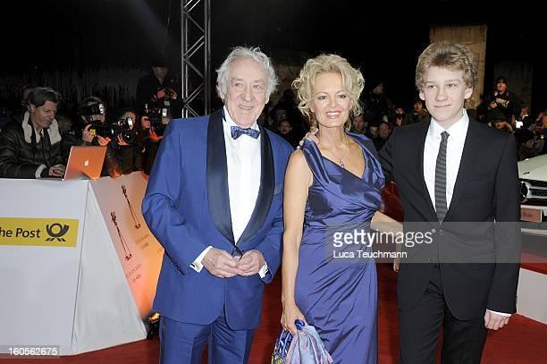 Dieter Hallervorden Claudia Neidig and Johannes Hallervorden attends the 48th Golden Camera Awards at the Axel Springer Haus on February 2 2013 in...