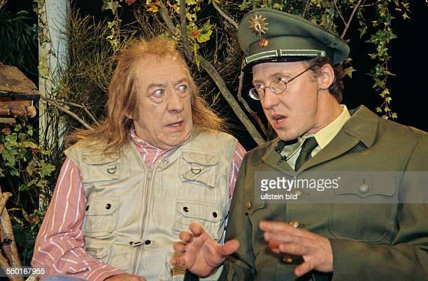 Dieter Hallervorden und Harald Effenberg am Set von HALLERVORDENS SPOTLIGHT in Berlin