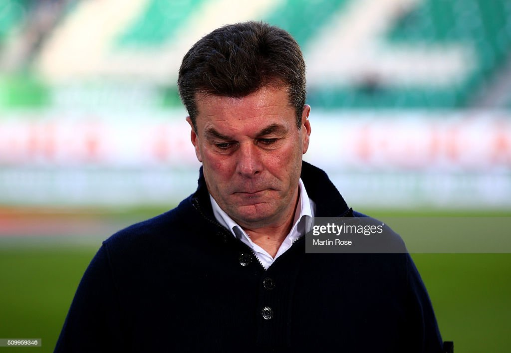 <a gi-track='captionPersonalityLinkClicked' href=/galleries/search?phrase=Dieter+Hecking&family=editorial&specificpeople=535775 ng-click='$event.stopPropagation()'>Dieter Hecking</a>, head coach of Wolfsburg looks on before the Bundesliga match between VfL Wolfsburg and FC Ingolstadt at Volkswagen Arena on February 13, 2016 in Wolfsburg, Germany.