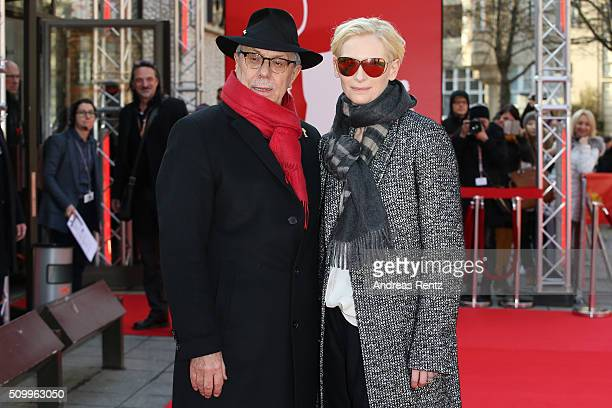 Dieter Kosslick and Tilda Swinton attend the 'The Seasons in Quincy Four Portraits of John Berger' screening during the 66th Berlinale International...