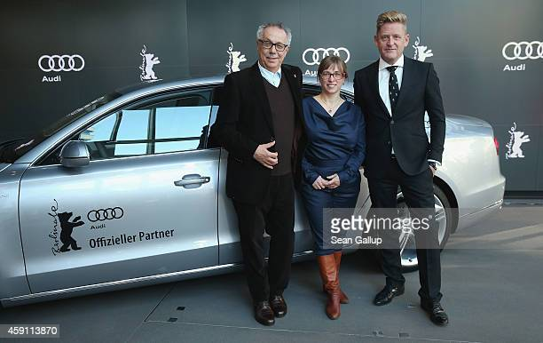 Dieter Kosslick Director of the Berlinale International Film Festival Maike Mia Hoehne Curator of Berlinale Shorts and Wayne Griffiths Director of...