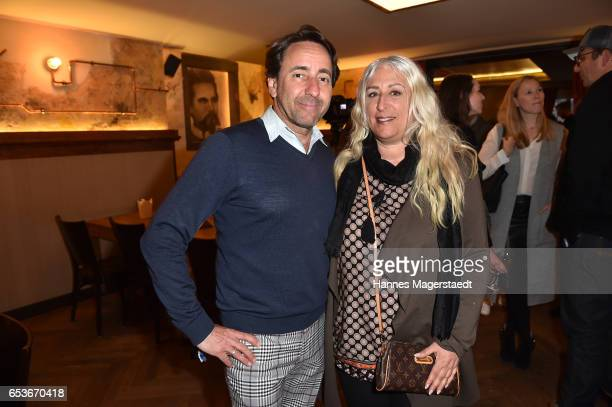 Dieter Landuris and his wife Natascha Landuris during the NdF after work press cocktail at Parkcafe on March 15 2017 in Munich Germany