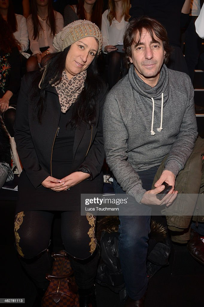 Dieter Landuris and Natascha Landuris attend the Minx by Eva Lutz show during Mercedes-Benz Fashion Week Autumn/Winter 2014/15 at Brandenburg Gate on January 15, 2014 in Berlin, Germany.