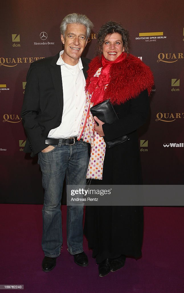 Dieter Moor and wife Sonja Moor attend the premiere of 'Quartet' at Deutsche Oper on January 20, 2013 in Berlin, Germany.