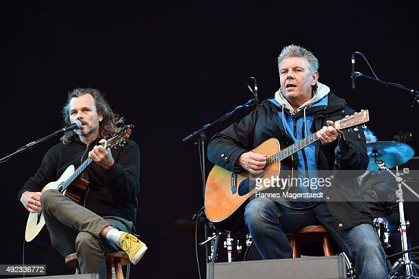 Dieter Reiter major of Munich attends the WIR open air at Koenigsplatz on October 11 2015 in Munich Germany This free music festival is offered by...