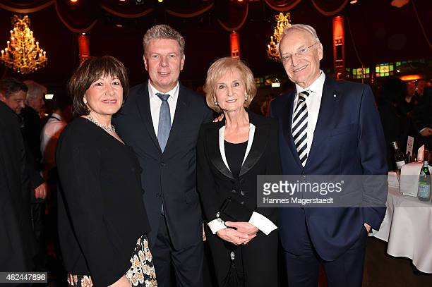 Dieter Reiter snd hid wife Petra Reieter and Edmund Stoiber with his wife Karin Stoiber attend 'Radio Gong 963 Celebrates 30th Anniversary' at...