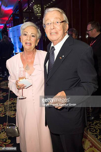 Dieter Thomas Heck and his wife Ragnhild Moller attend the GEMA Musikautorenpreis 2015 on May 21 2015 in Berlin Germany