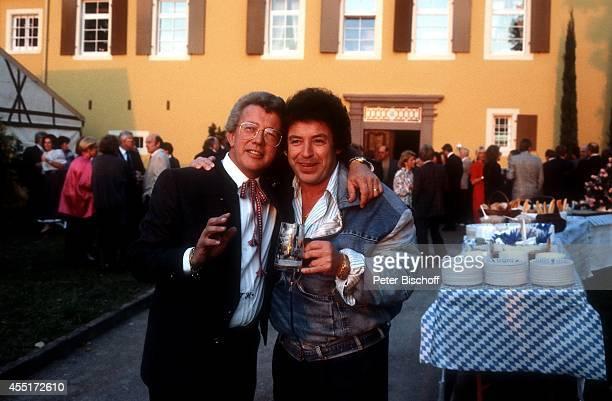 Dieter Thomas Heck Tony Marshall Schlossfest 1986 am im Schloß Aubach bei BadenBaden Deutschland