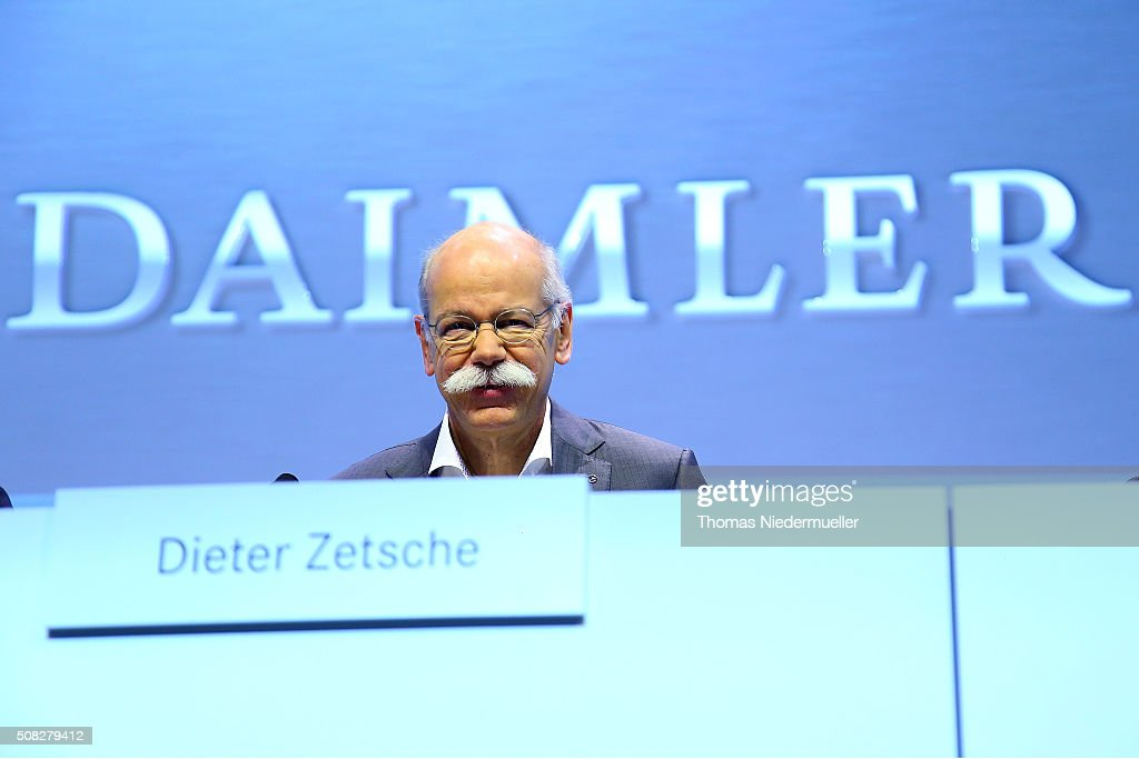 Dieter Zetsche, CEO of Daimler AG attends the Daimler AG annual press conference on February 4, 2016 in Stuttgart, Germany. The German government this week announced a movement to increase the sales of electric cars.