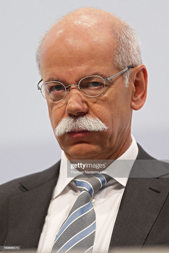 Dieter Zetsche, CEO of German carmaker Daimler AG, speaks to the media to announce the company's financial performance in 2012 during the Daimler AG, annual press conference on February 7, 2013 in Stuttgart, Germany. Daimler, which manufactures Mercedes-Benz luxury cars, finished in 2012 with its highest business volume of 114.3 Billion Euro since ending its merger with Chrysler in 2007. The group announced a EBIT from ongoing business of 8.6 Billion Euro.