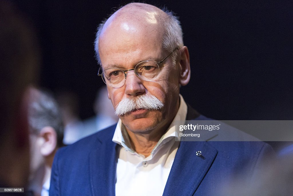 <a gi-track='captionPersonalityLinkClicked' href=/galleries/search?phrase=Dieter+Zetsche&family=editorial&specificpeople=241297 ng-click='$event.stopPropagation()'>Dieter Zetsche</a>, chief executive officer of Daimler AG, pauses while speaking to reporters during the CAR Symposium in Bochum, Germany, on Thursday, Feb. 11, 2016. General Motors Co.'s German brand Opel will introduce its first fully electric car next year as part of a 29-model lineup overhaul, putting pressure on Volkswagen AG as it reels from the diesel-emissions scandal. Photographer: Martin Leissl/Bloomberg via Getty Images