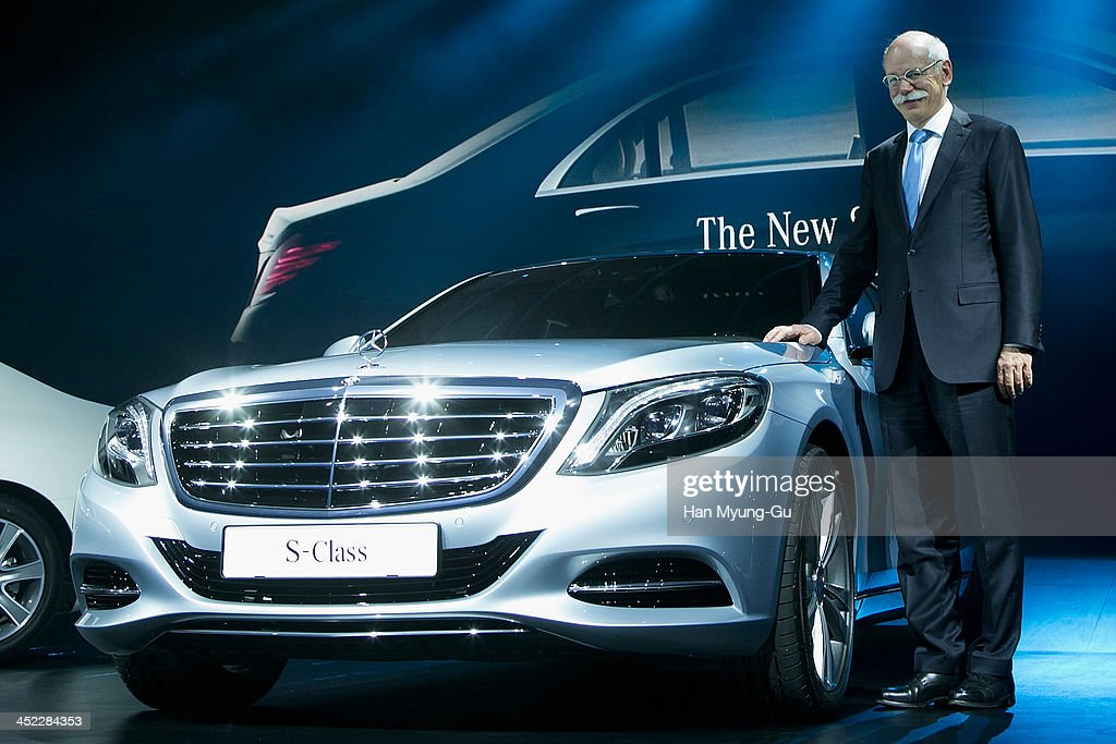 <a gi-track='captionPersonalityLinkClicked' href=/galleries/search?phrase=Dieter+Zetsche&family=editorial&specificpeople=241297 ng-click='$event.stopPropagation()'>Dieter Zetsche</a>, chief executive officer of Daimler AG, poses for media the launch event of Mercedes-Benz New S-Class on November 27, 2013 in Seoul, South Korea.