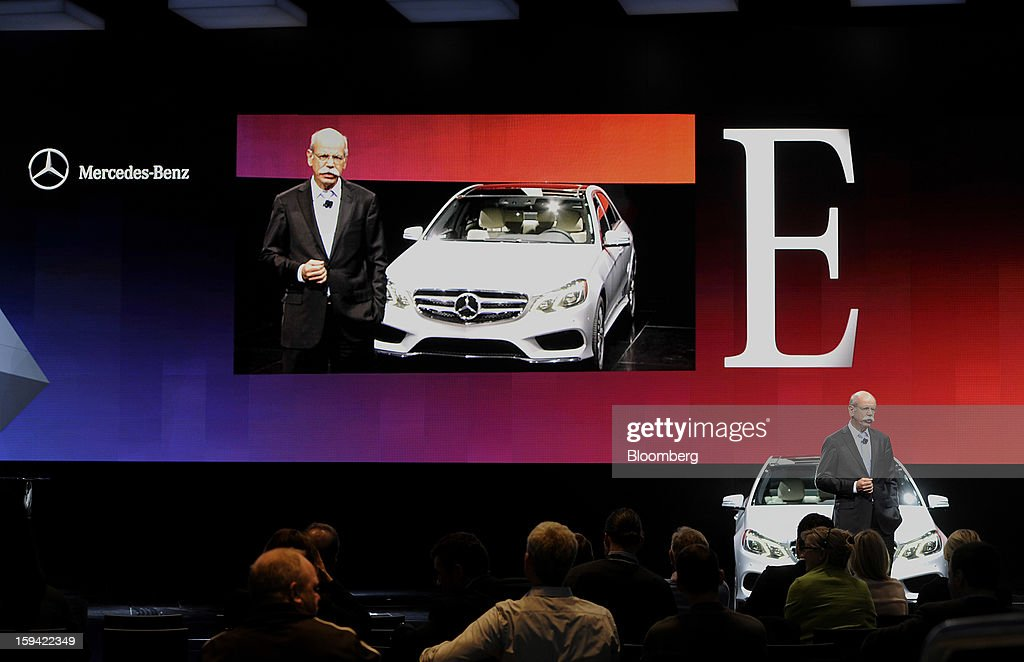 Dieter Zetsche, chief executive officer of Daimler AG, speaks during a rehearsal ahead of the 2013 North American International Auto Show (NAIAS) in Detroit, Michigan, U.S., on Sunday, Jan. 13, 2013. The Detroit auto show runs through Jan. 27 and will display over 500 vehicles, representing the most innovative designs in the world. Photographer: David Paul Morris/Bloomberg via Getty Images