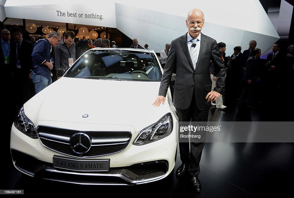 """Dieter Zetsche, chief executive officer of Daimler AG, stands for a photograph during the 2013 North American International Auto Show (NAIAS) in Detroit, Michigan, U.S., on Monday, Jan. 14, 2013. Zetsche said the European car market will probably """"slightly decline"""" in the first half of the year. Photographer: Daniel Acker/Bloomberg via Getty Images"""