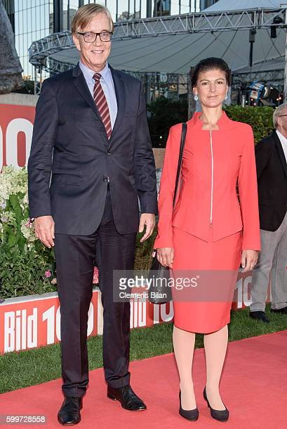 Dietmar Bartsch and Sahra Wagenknecht attend the BILD100 event on September 6 2016 in Berlin Germany