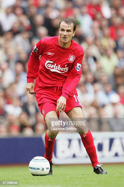 Dietmar Hamann of Liverpool in action during the FA Barclays Premiership match between Liverpool and West Bromwich Albion at Anfield on September 11...