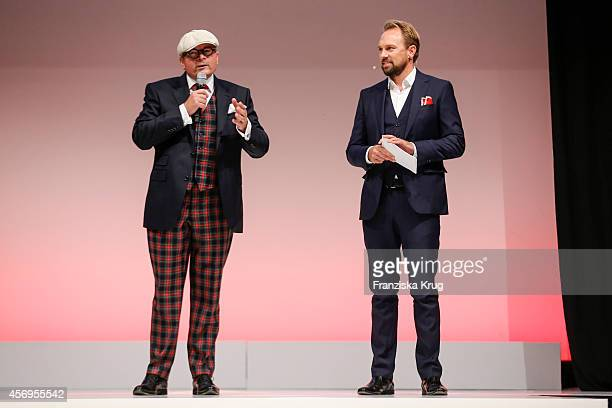 Dietmar K Elsasser and Steven Gaetjen attend the Audi Fashion Award 2014 on October 09 2014 in Hamburg Germany