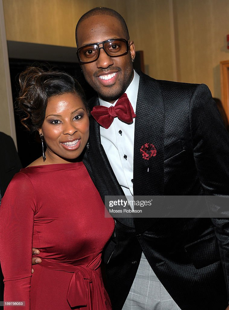 Dietra and Isaac Carree attend the 28th Annual Stellar Awards Backstage at Grand Ole Opry House on January 19, 2013 in Nashville, Tennessee.