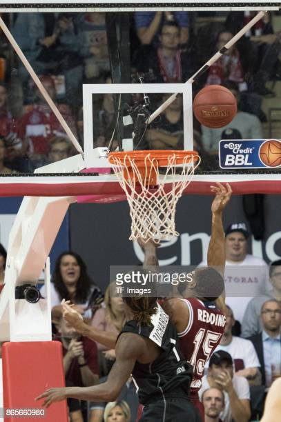 Dietrich James Richardson of Wuerzburg and Reggie Redding of Bayern Muenchen battle for the ball during the easyCredit BBL Basketball Bundesliga...