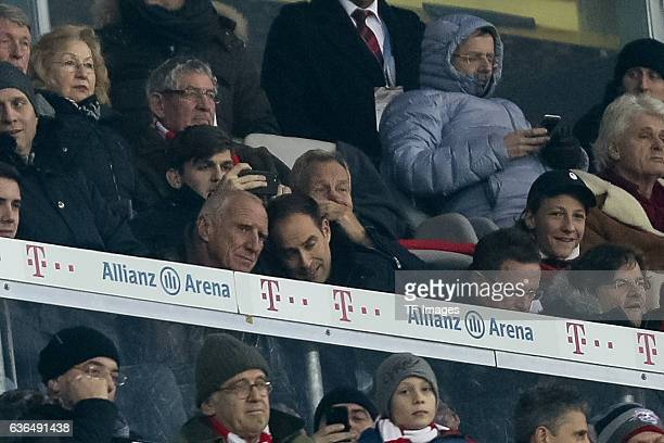 Dietrich Mateschitz looks on during the Bundesliga match between Bayern Muenchen and RB Leipzig at Allianz Arena on December 21 2016 in Munich Germany