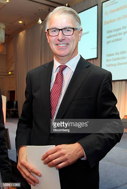 Dietrich Voigtlaender chief executive officer of WestLB AG walks to a session at the Banks in Crisis conference in Frankfurt Germany on Wednesday...