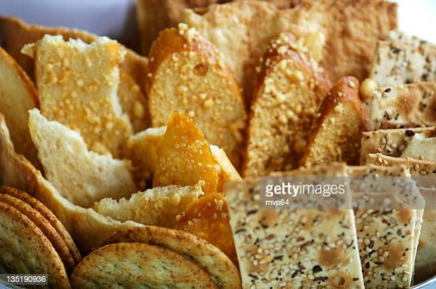 Different arrangement of Wheat crackers