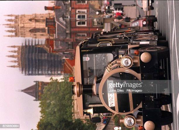 Different attractions in York today where a controversial road train was making test runs between the National Rail Museum and York Minster carrying...