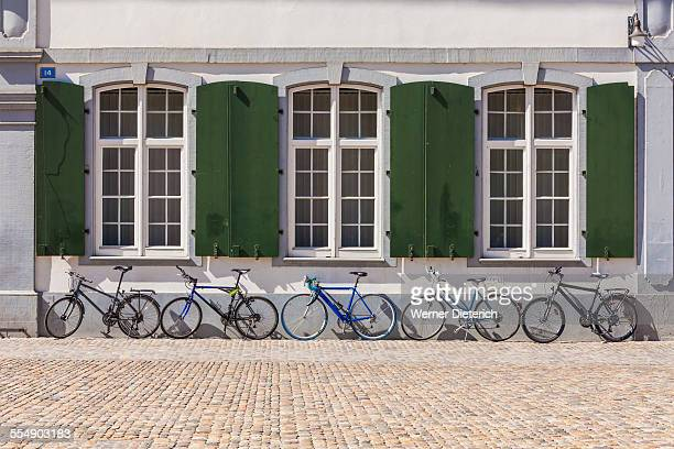 Different bicycles at the Munsterplatz square