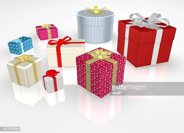 different Christmas Presents with Bow