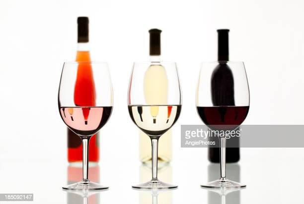 Couleurs différentes de vin