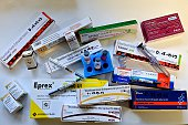 Different drugs are displayed which may be used when doping with EPO on February 25 2015 in Chatenay France