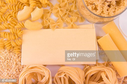 Diferentes tipos de pasta : Foto de stock