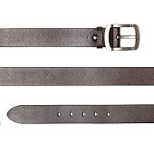 Different leather belt  on white background