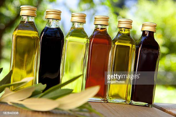 Different oils and vinegars