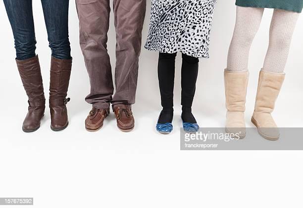 Verschiedene Modell Beine Kleidung-Herren-Konzept