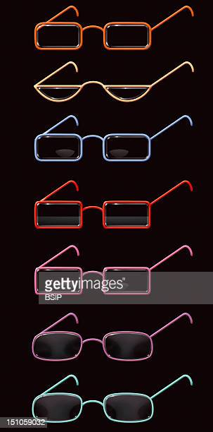 Different Types Of Corrective Glasses For Presbyopia From The Top To The Bottom Reading Glasses Or Magnifing Glasses Unifocal Only One Focus Enables...