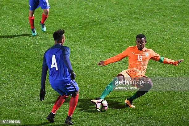 Digbo Habib Maiga of Ivory Coast during the International friendly match between France and Ivory Coast on November 10 2016 in Beauvais France
