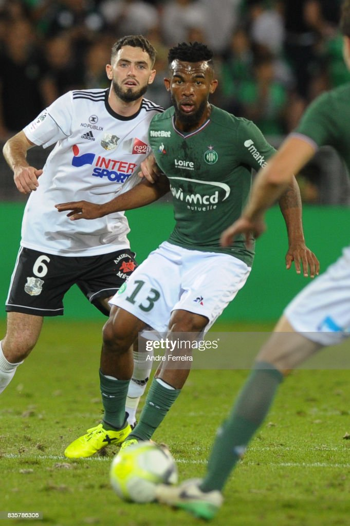 Digbo Maiga of Saint Etienne during the Ligue 1 match between AS Saint Etienne and Amiens SC at Stade Geoffroy Guichard on August 19, 2017 in Saint Etienne, France.