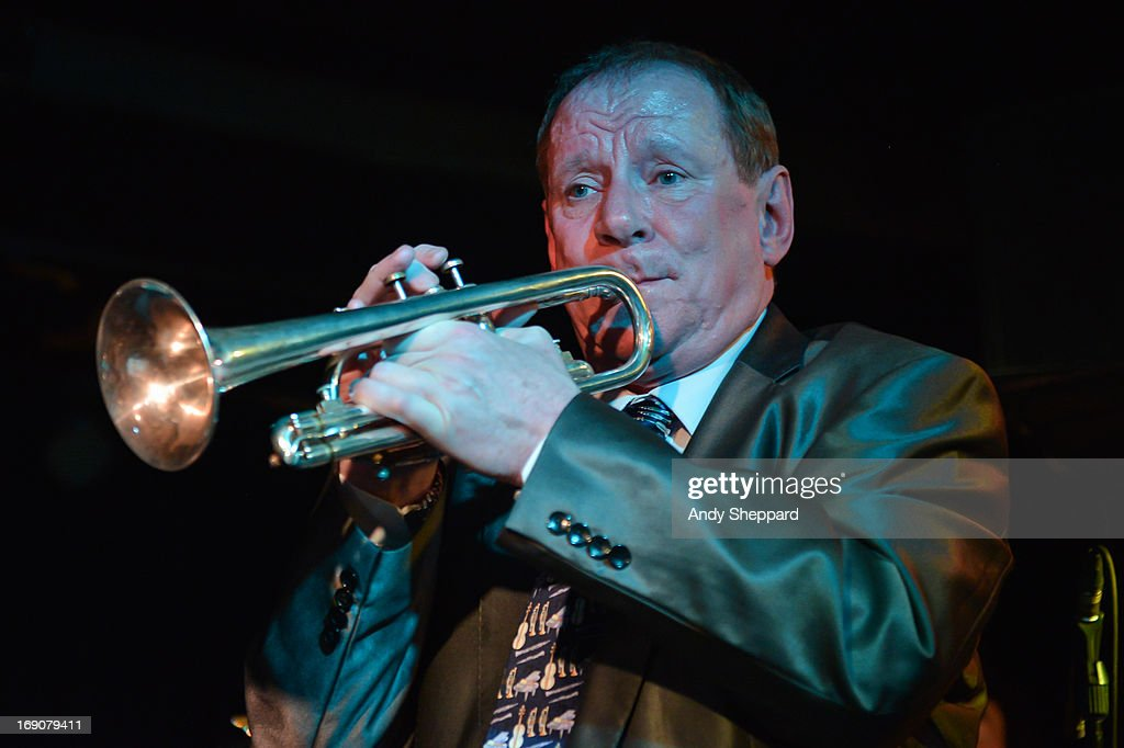 Digby Fairweather performs with Laura Jurd Quartet at Pizza Express Jazz Club on May 19, 2013 in London, England.
