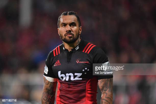 Digby Ioane of the Crusaders looks on during the round five Super Rugby match between the Crusaders and the Force at AMI Stadium on March 24 2017 in...