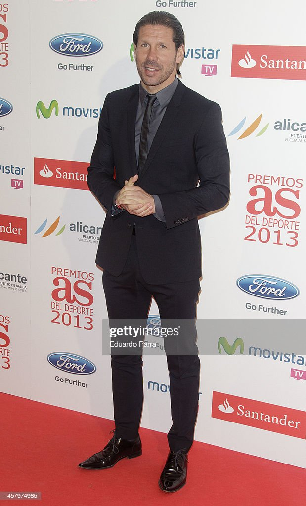 Digeo Simeone attends 'As del deporte' awards 2013 photocall at Palace hotel on December 19, 2013 in Madrid, Spain.