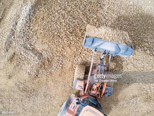 Digger Moving Earth