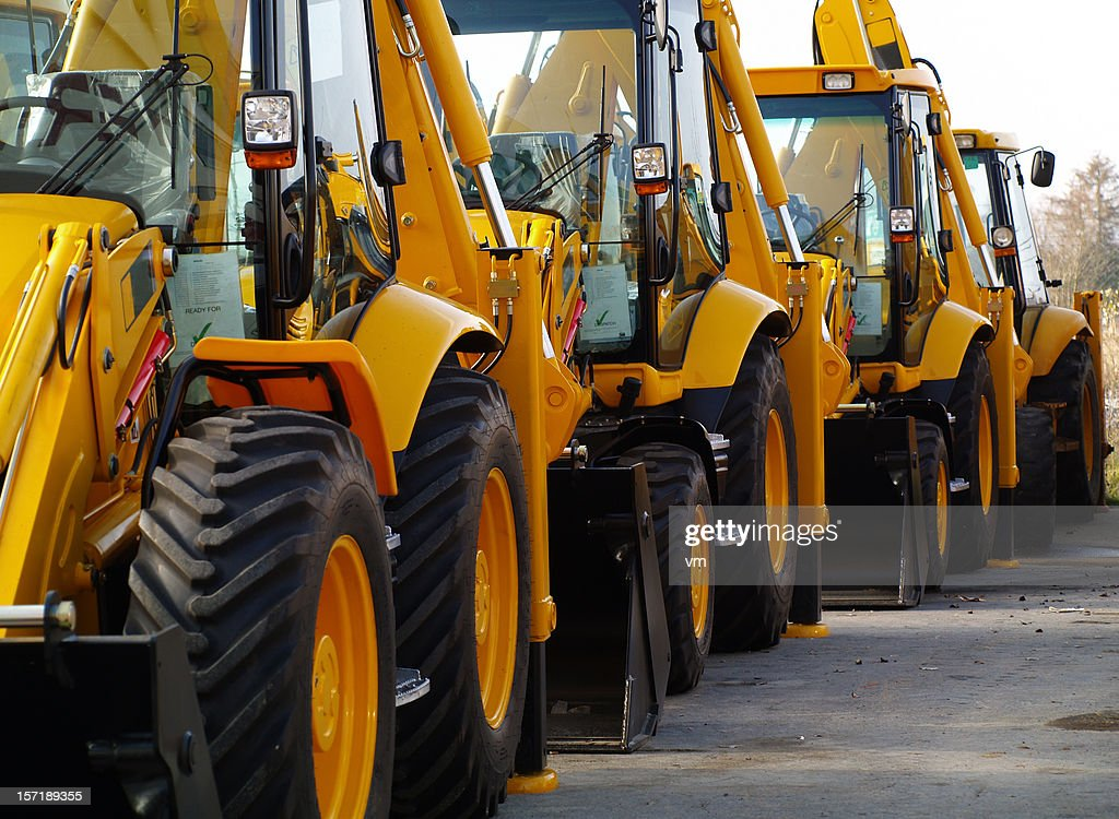 Diggers in a row