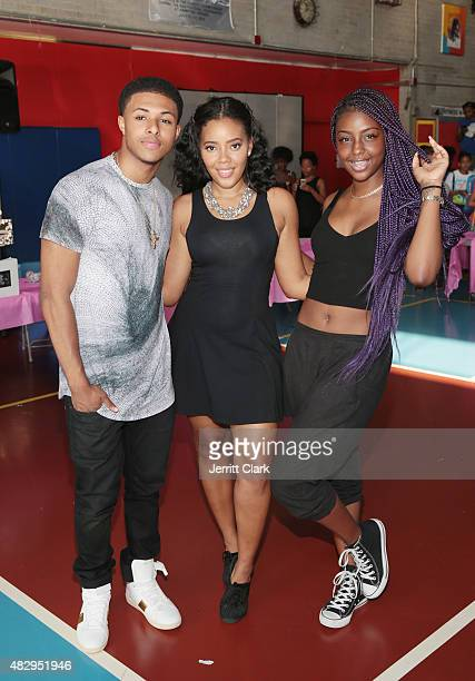 Diggy Simmons Angela Simmons and Justine Skye attend the GirlTalk Takeover Hosted By Angela Simmons at Harlem Boys and Girls Club on July 29 2015 in...