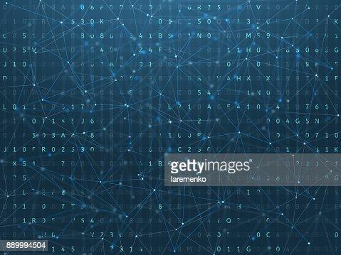 Digital background, blockchain concept. : Stock Photo